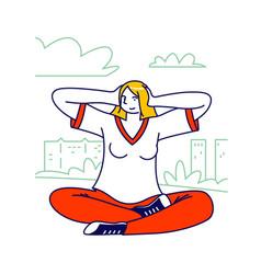 Human emotional balance body language concept vector