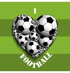 I love football vector image