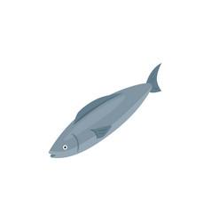 Isometric fish icon vector