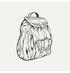 It is an of backpack vector image