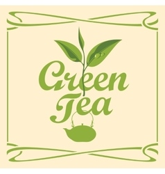 Label for green tea vector