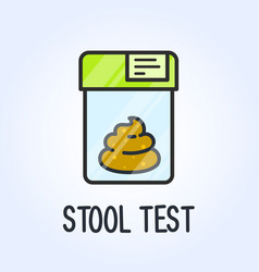 Laboratory stool test icon - poo in plastic bag vector