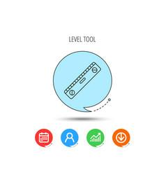level tool icon horizontal measurement sign vector image