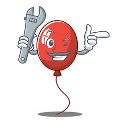 Mechanic balloon character cartoon style vector