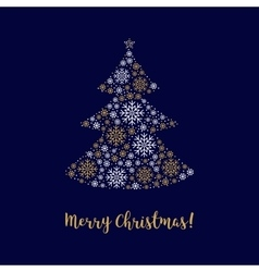 Merry Christmas card Abstract tree made of vector image