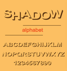 modern shadow font design for typography on orange vector image
