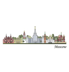 Moscow skyline colored vector