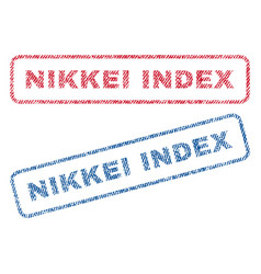 Nikkei index textile stamps vector