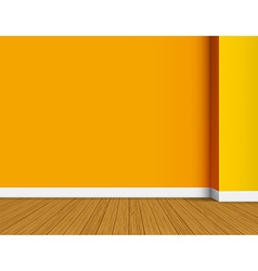 Orange empty interior background vector image