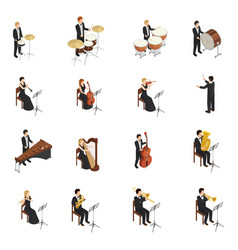 Orchestra people set vector
