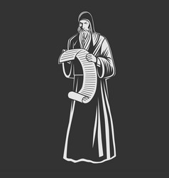 Orthodox monk orthodox priest vector