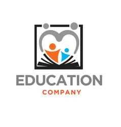 parents care education school logo designs modern vector image