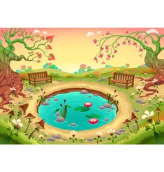 Romantic scene in the park vector