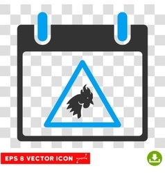 Rooster Warning Calendar Day Eps Icon vector