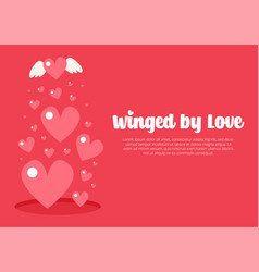 saint valentines day greeting card vector image