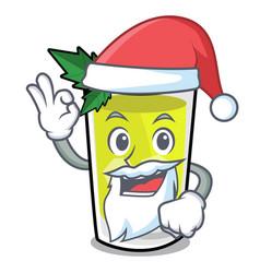 Santa mint julep mascot cartoon vector