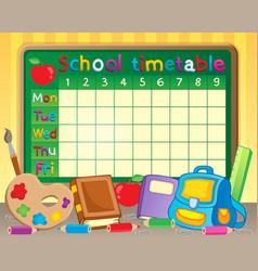 School timetable theme image 3 vector