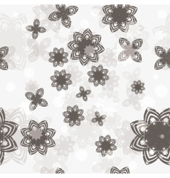 seamless background with flower vector image vector image