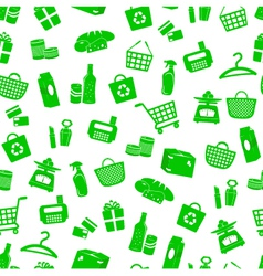 shopping pattern vector image vector image