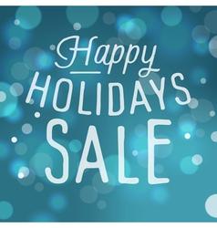 slogan bokeh xmas happy sale vector image