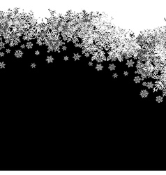 Snowflakes white border silhouette Up line Isolate vector image