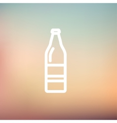Soda bottle thin line icon vector image