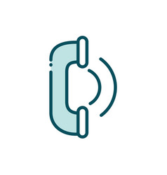 telephone center service helpline social media vector image
