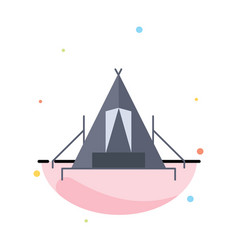 Tent camping camp campsite outdoor flat color icon vector