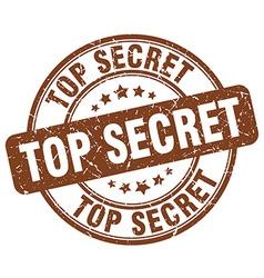 Top secret brown grunge round vintage rubber stamp vector