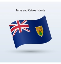 Turks and Caicos Islands flag waving form vector