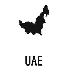 uae map in black simple vector image