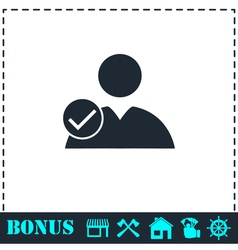 User check icon flat vector image