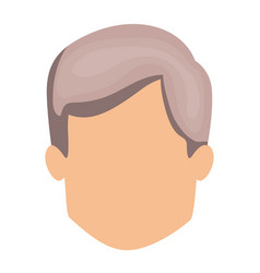 White background of faceless man with short wavy vector