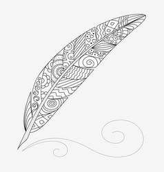 zen art feather vector image