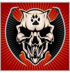 Zombi Apocalypse - emblem with skull vector image