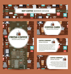 coffee shop pattern corporate identity design vector image