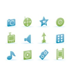 entertainment and media icons vector image vector image