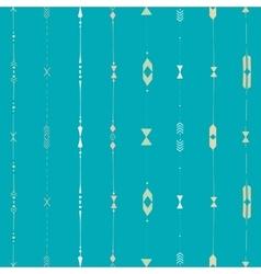 horizontal ethnic stripes vector image vector image