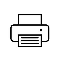 printer icon in flat style vector image vector image
