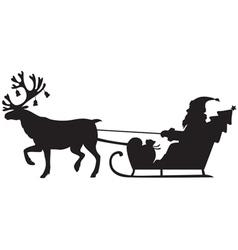 reindeer santa vector image