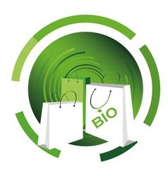 bio shopping bag vector image vector image