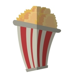 bucket pop corn cinema graphic shadow vector image