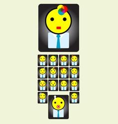 Set smile icon vector image vector image