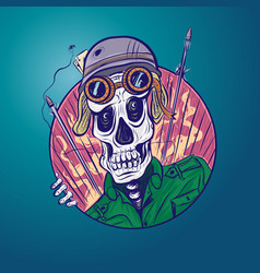 skull soldier vector image