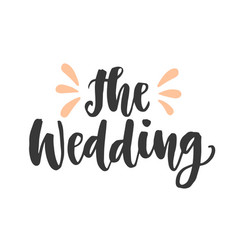 The wedding day invitations lettering vector