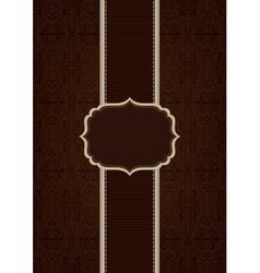 Brown elegant decorative background vector image vector image