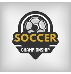 Soccer sports logo vector image vector image