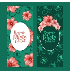 Vertical flyers or brochure design with decorative vector image vector image