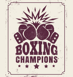 vintage logo for a boxing vector image vector image