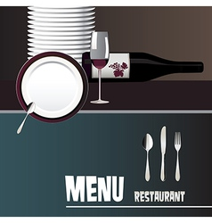 menus for restaurants and bars vector image